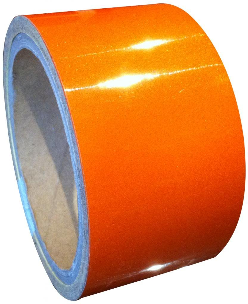 Orange Reflective Tape Engineering Grade 25mm x 9M