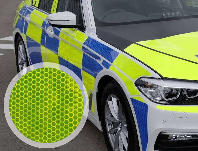150mm x 7.5M Fluorescent Yellow Chapter 8 Emergency Vehicle Tape