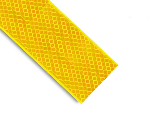 Yellow Retroreflective Tape Class 2 Grade 25mm x 9M